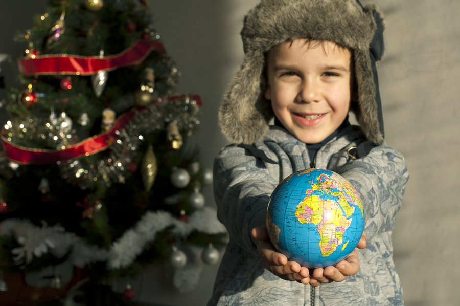 Child who give as gift the world